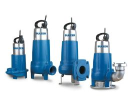 Submersible dewatering wastewater pumps