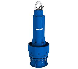 Submersible mixed flow impeller pumps