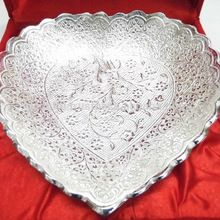 lovely silver plated brass tray