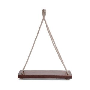 Wood hanging plant holder