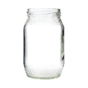 Honey Comb Glass Jar