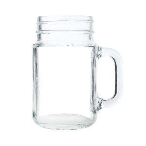 Mason Handle Glass Jar