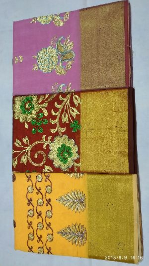 Chanderi Embroidered Sarees 03