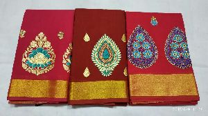 Chanderi Embroidered Sarees 06