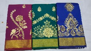 Chanderi Embroidered Sarees 07