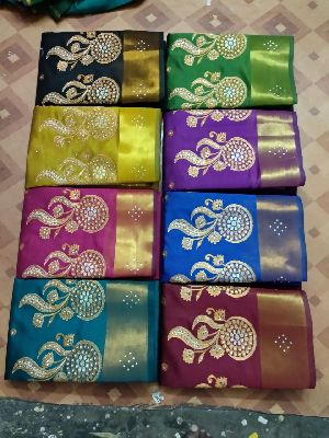 Chanderi Embroidered Sarees 09