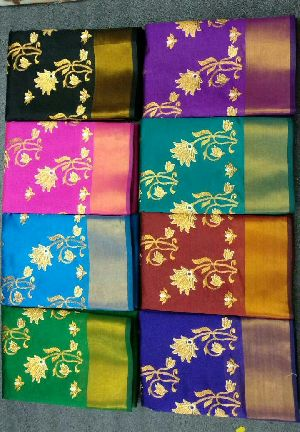 Chanderi Embroidered Sarees 10