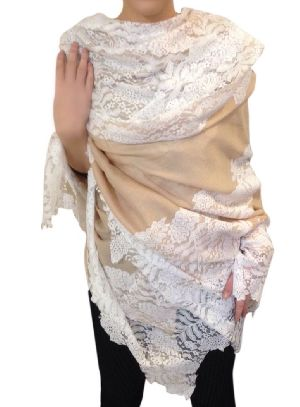 Chiffon Embroidered Stoles 03