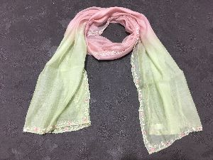 Chiffon Embroidered Stoles 09