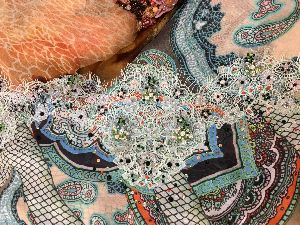 Georgette Embroidered Fabric 01