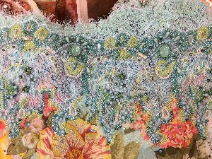 Georgette Embroidered Fabric 04