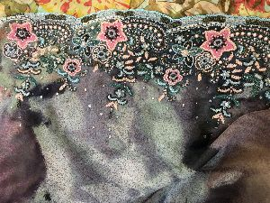 Georgette Embroidered Fabric 05