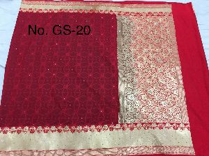 Georgette Embroidered Sarees 01