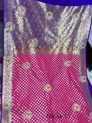 Georgette Embroidered Sarees 02