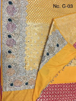 Georgette Embroidered Sarees 06