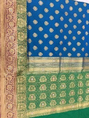 Georgette Embroidered Sarees 15