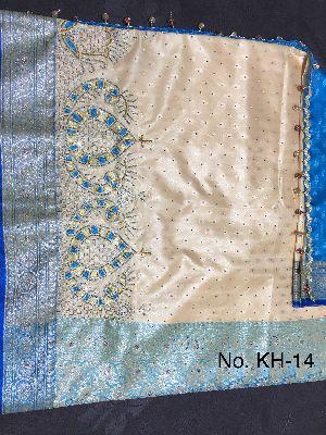 Nylon Kaju Buti Embroidered Sarees 02
