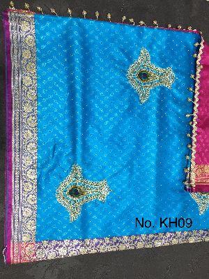 Nylon Kaju Buti Embroidered Sarees 03