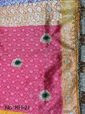 Nylon Kaju Buti Embroidered Sarees 06