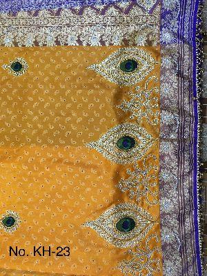 Nylon Kaju Buti Embroidered Sarees 08