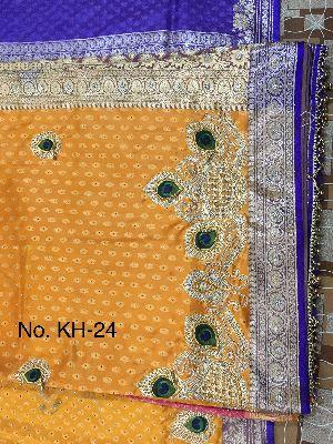 Nylon Kaju Buti Embroidered Sarees 09