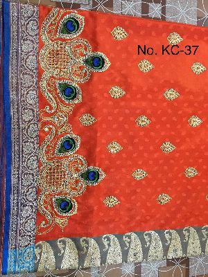 Nylon Kaju Buti Embroidered Sarees 10