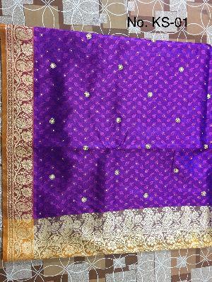 Nylon Kaju Buti Embroidered Sarees 11