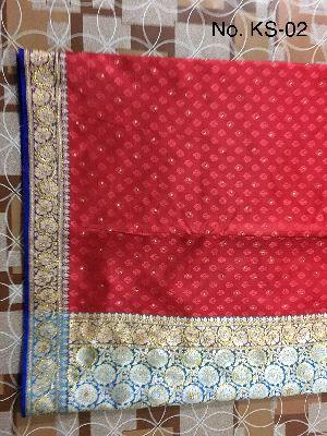 Nylon Kaju Buti Embroidered Sarees 12