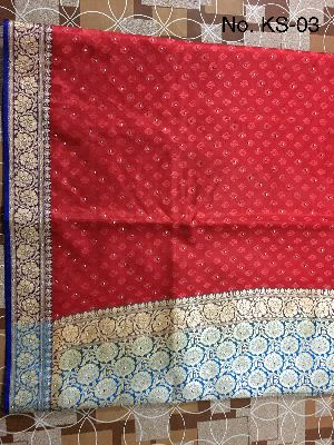 Nylon Kaju Buti Embroidered Sarees 13