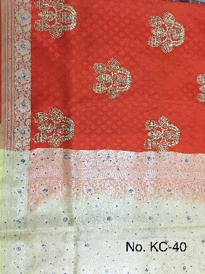 Nylon Kaju Buti Embroidered Sarees 15