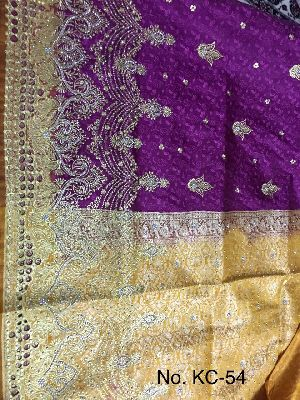 Nylon Kaju Buti Embroidered Sarees 16