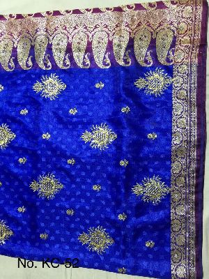Nylon Kaju Buti Embroidered Sarees 17