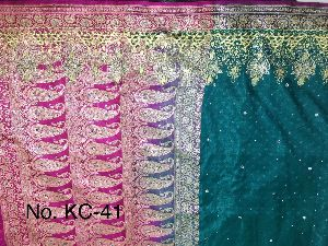 Nylon Kaju Buti Embroidered Sarees 18