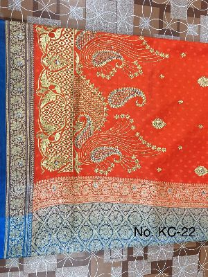 Nylon Kaju Buti Embroidered Sarees 19