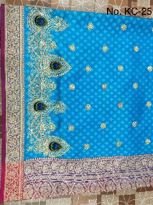 Nylon Kaju Buti Embroidered Sarees 20
