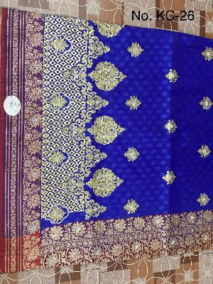 Nylon Kaju Buti Embroidered Sarees 21