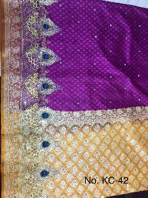 Nylon Kaju Buti Embroidered Sarees 22
