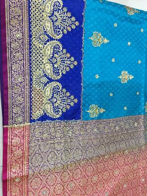 Nylon Kaju Buti Embroidered Sarees 23