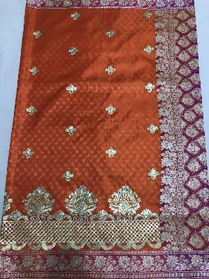 Nylon Kaju Buti Embroidered Sarees 24