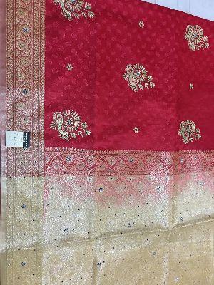 Nylon Kaju Buti Embroidered Sarees 25