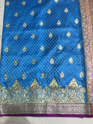 Nylon Kaju Buti Embroidered Sarees 27
