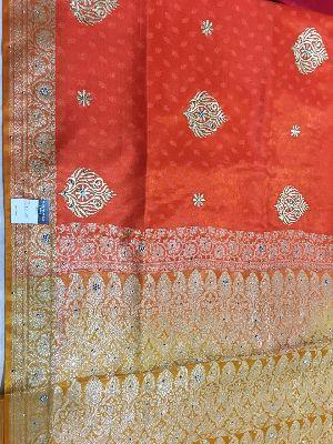 Nylon Kaju Buti Embroidered Sarees 28