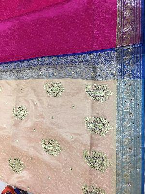 Nylon Kaju Buti Embroidered Sarees 29