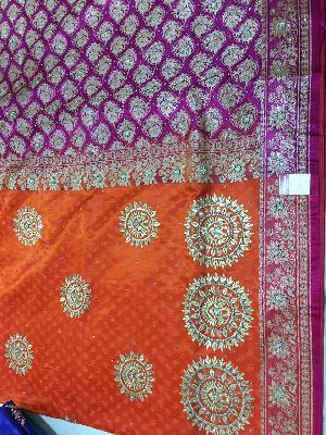 Nylon Kaju Buti Embroidered Sarees 30