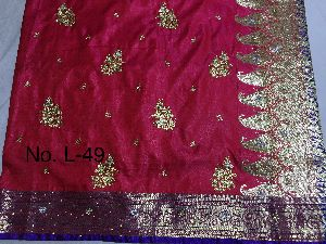 Nylon Lacha Embroidered Sarees 05