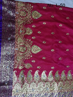 Nylon Lacha Embroidered Sarees 06