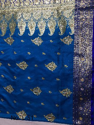 Nylon Lacha Embroidered Sarees 07