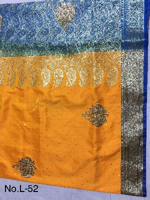 Nylon Lacha Embroidered Sarees 08