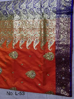 Nylon Lacha Embroidered Sarees 09