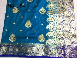 Nylon Lacha Embroidered Sarees 10